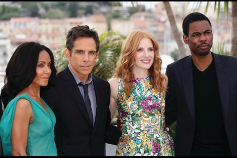 Jada Pinkett Smith, Ben Stiller, Jessica Chastain and Chris Rock promote Madagascar 3: Europe's Most Wanted